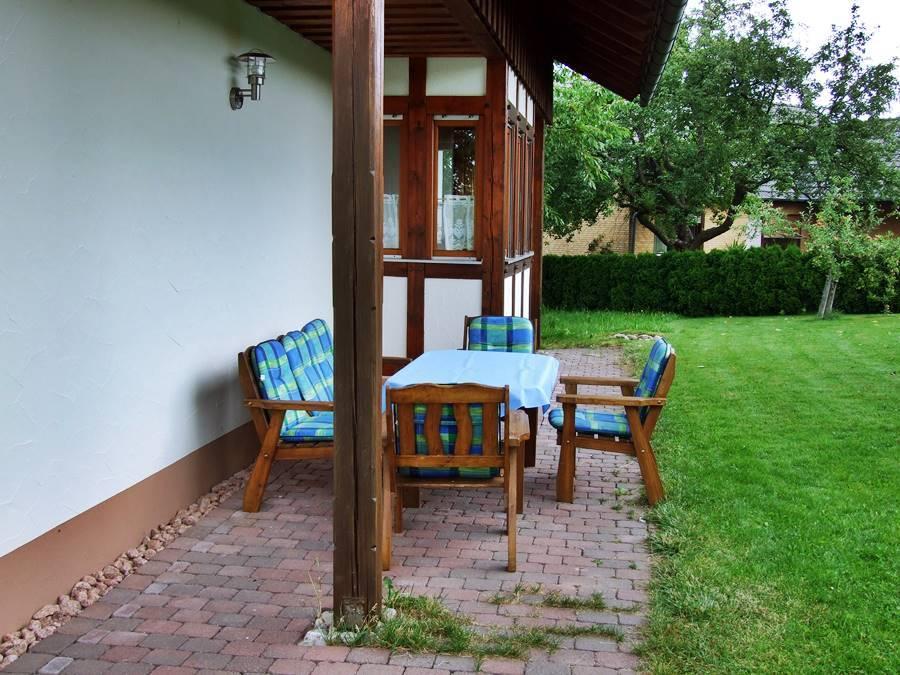 Rhönferienhaus Link - Terrasse